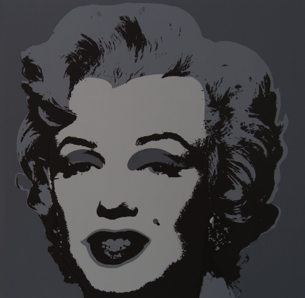 Andy Warhol Marilyn black
