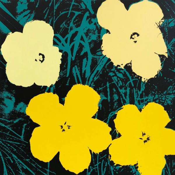 Andy Warhol flowers print