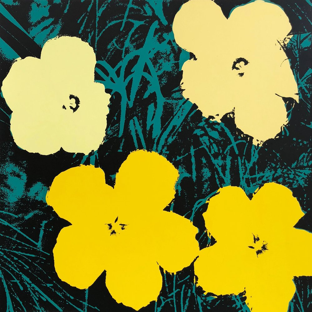 Andy Warhol flowers print