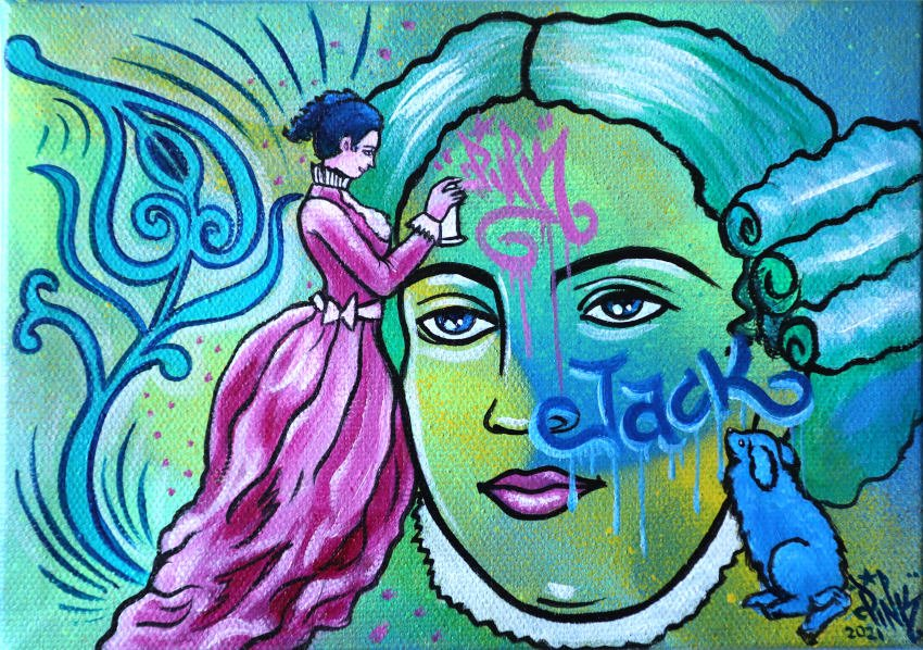 lady pink artwork